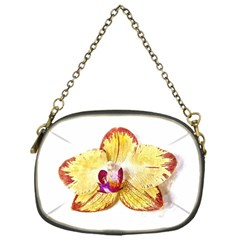 Yellow Phalaenopsis Flower, Floral Aquarel Watercolor Painting Art Chain Purses (one Side)