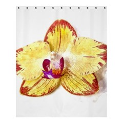 Yellow Phalaenopsis Flower, Floral Aquarel Watercolor Painting Art Shower Curtain 60  X 72  (medium)  by picsaspassion