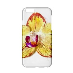 Yellow Phalaenopsis Flower, Floral Aquarel Watercolor Painting Art Apple Iphone 6/6s Hardshell Case by picsaspassion