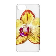 Yellow Phalaenopsis Flower, Floral Aquarel Watercolor Painting Art Apple Iphone 8 Hardshell Case
