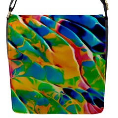 Abstract Acryl Art Flap Messenger Bag (s) by tarastyle