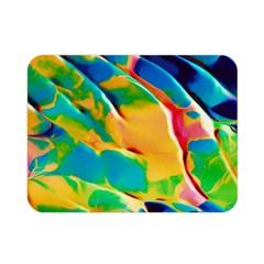 Abstract Acryl Art Double Sided Flano Blanket (mini)