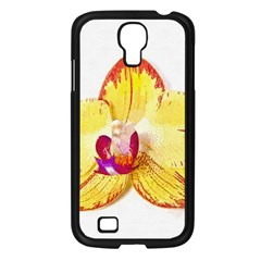 Phalaenopsis Yellow Flower, Floral Oil Painting Art Samsung Galaxy S4 I9500/ I9505 Case (black) by picsaspassion