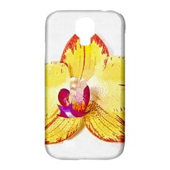 Phalaenopsis Yellow Flower, Floral Oil Painting Art Samsung Galaxy S4 Classic Hardshell Case (pc+silicone) by picsaspassion