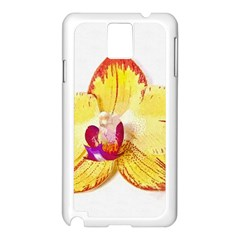 Phalaenopsis Yellow Flower, Floral Oil Painting Art Samsung Galaxy Note 3 N9005 Case (white) by picsaspassion
