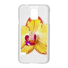 Phalaenopsis Yellow Flower, Floral Oil Painting Art Samsung Galaxy S5 Case (white) by picsaspassion