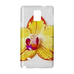 Phalaenopsis Yellow Flower, Floral Oil Painting Art Samsung Galaxy Note 4 Hardshell Case by picsaspassion