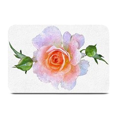 Pink Rose Flower, Floral Oil Painting Art Plate Mats by picsaspassion