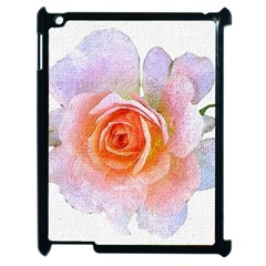 Pink Rose Flower, Floral Oil Painting Art Apple Ipad 2 Case (black) by picsaspassion