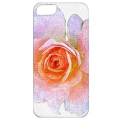Pink Rose Flower, Floral Oil Painting Art Apple Iphone 5 Classic Hardshell Case by picsaspassion