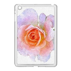 Pink Rose Flower, Floral Oil Painting Art Apple Ipad Mini Case (white)