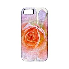 Pink Rose Flower, Floral Oil Painting Art Apple Iphone 5 Classic Hardshell Case (pc+silicone) by picsaspassion