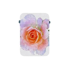 Pink Rose Flower, Floral Oil Painting Art Apple Ipad Mini Protective Soft Cases by picsaspassion