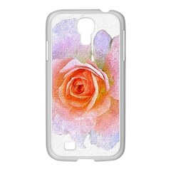 Pink Rose Flower, Floral Oil Painting Art Samsung Galaxy S4 I9500/ I9505 Case (white) by picsaspassion