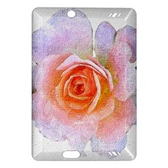 Pink Rose Flower, Floral Oil Painting Art Amazon Kindle Fire Hd (2013) Hardshell Case