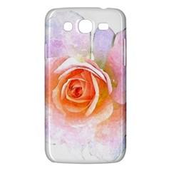 Pink Rose Flower, Floral Watercolor Aquarel Painting Art Samsung Galaxy Mega 5 8 I9152 Hardshell Case  by picsaspassion