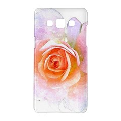 Pink Rose Flower, Floral Watercolor Aquarel Painting Art Samsung Galaxy A5 Hardshell Case  by picsaspassion