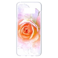 Pink Rose Flower, Floral Watercolor Aquarel Painting Art Samsung Galaxy S8 Plus White Seamless Case by picsaspassion
