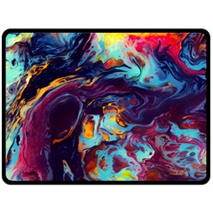Abstract Acryl Art Double Sided Fleece Blanket (large)  by tarastyle