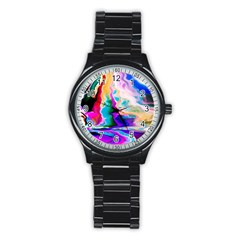 Abstract Acryl Art Stainless Steel Round Watch by tarastyle