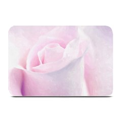 Rose Pink Flower, Floral Aquarel   Watercolor Painting Art Plate Mats by picsaspassion