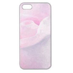 Rose Pink Flower, Floral Aquarel   Watercolor Painting Art Apple Seamless Iphone 5 Case (clear) by picsaspassion