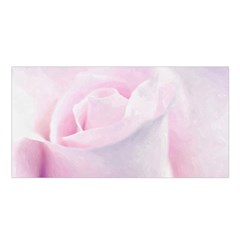 Rose Pink Flower, Floral Aquarel   Watercolor Painting Art Satin Shawl by picsaspassion