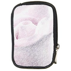 Rose Pink Flower  Floral Pencil Drawing Art Compact Camera Cases by picsaspassion