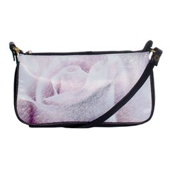 Rose Pink Flower  Floral Pencil Drawing Art Shoulder Clutch Bags by picsaspassion