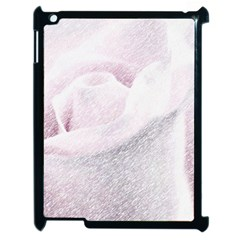 Rose Pink Flower  Floral Pencil Drawing Art Apple Ipad 2 Case (black) by picsaspassion