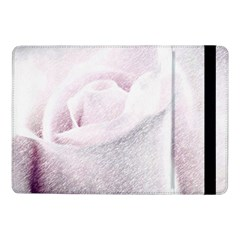 Rose Pink Flower  Floral Pencil Drawing Art Samsung Galaxy Tab Pro 10 1  Flip Case by picsaspassion