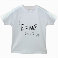 E=mc2 Formula Physics Relativity Kids White T Shirts by picsaspassion