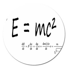 E=mc2 Formula Physics Relativity Magnet 5  (round) by picsaspassion