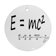 E=mc2 Formula Physics Relativity Round Ornament (two Sides) by picsaspassion