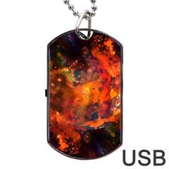 Abstract Acryl Art Dog Tag Usb Flash (two Sides) by tarastyle