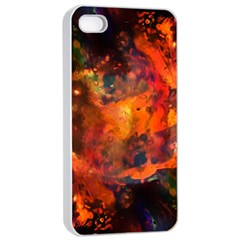 Abstract Acryl Art Apple Iphone 4/4s Seamless Case (white) by tarastyle