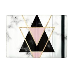 Triangles,gold,black,pink,marbles,collage,modern,trendy,cute,decorative, Apple Ipad Mini Flip Case by 8fugoso
