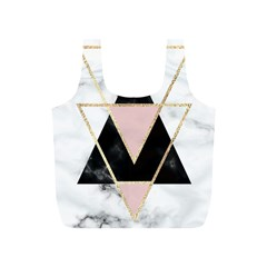 Triangles,gold,black,pink,marbles,collage,modern,trendy,cute,decorative, Full Print Recycle Bags (s)