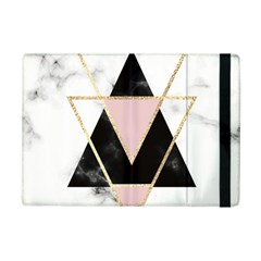 Triangles,gold,black,pink,marbles,collage,modern,trendy,cute,decorative, Ipad Mini 2 Flip Cases by 8fugoso