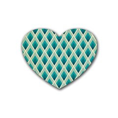 Artdecoteal Rubber Coaster (heart)  by 8fugoso