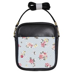Floral Blue Girls Sling Bags by 8fugoso