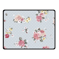 Floral Blue Fleece Blanket (small) by 8fugoso