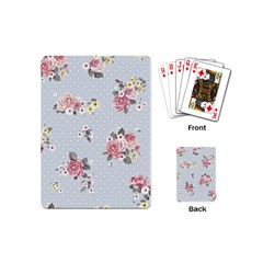 Floral Blue Playing Cards (mini)  by 8fugoso
