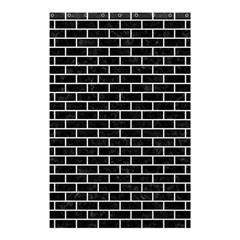 Brick1 Black Marble & White Linen (r) Shower Curtain 48  X 72  (small)  by trendistuff