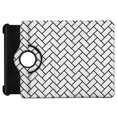 Brick2 Black Marble & White Linen Kindle Fire Hd 7  by trendistuff