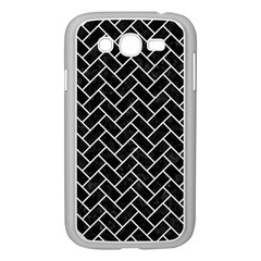 Brick2 Black Marble & White Linen (r) Samsung Galaxy Grand Duos I9082 Case (white) by trendistuff