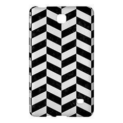 Chevron1 Black Marble & White Linen Samsung Galaxy Tab 4 (8 ) Hardshell Case  by trendistuff