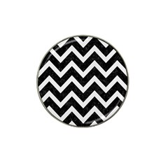 Chevron9 Black Marble & White Linen (r) Hat Clip Ball Marker (10 Pack) by trendistuff
