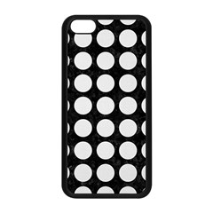 Circles1 Black Marble & White Linen (r) Apple Iphone 5c Seamless Case (black) by trendistuff