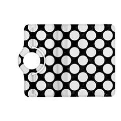 Circles2 Black Marble & White Linen (r) Kindle Fire Hd (2013) Flip 360 Case by trendistuff